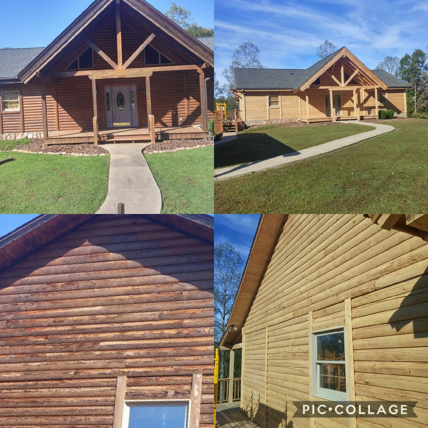 Home Wood Refinishing ~ Log home refinishing and wood restoration services in